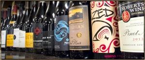 pinot noir california bottle of wine